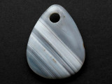 Gray Banded Agate Gemstone Pendant 44mm (GSP3766)