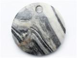 Gray Jasper Gemstone Pendant 44mm (GSP3769)