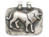 Silver Lion Tibetan Pendant 43mm (TB683)