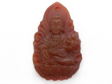 Carnelian Carved Buddha Pendant 42mm (GSP3889)