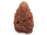 Carnelian Carved Buddha Pendant 43mm (GSP3891)