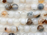 Montana Agate Faceted Round Gemstone Beads 8mm (GS5330)