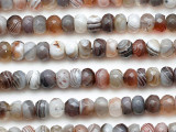 Botswana Agate Faceted Rondelle Gemstone Beads 7mm (GS5332)