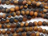 Matte Tiger Eye Round Gemstone Beads 4-5mm (GS5340)