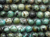"""African """"Turquoise"""" Jasper Faceted Round Gemstone Beads 8mm (GS5341)"""