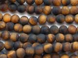 Matte Tiger Eye Round Gemstone Beads 6mm (GS5344)