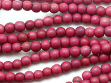 Fuchsia Purple Howlite Round Gemstone Beads 4-5mm (GS5353)