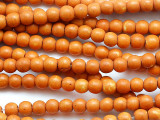 Light Orange Howlite Round Gemstone Beads 4-5mm (GS5354)