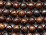 Bronzite Faceted Round Gemstone Beads 8mm (GS5359)