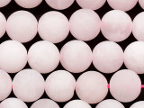 Matte Rose Quartz Round Gemstone Beads 10mm (GS5367)