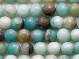 Black Gold Amazonite Faceted Round Gemstone Beads 8mm (GS5376)