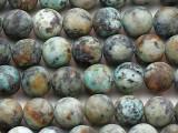 """Matte African """"Turquoise"""" Jasper Round Gemstone Beads 8mm (GS5380)"""