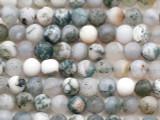 Matte Moss Agate Round Gemstone Beads 4mm (GS5389)
