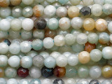 Pearlescent Black Gold Amazonite Faceted Round Gemstone Beads 4mm (GS5390)