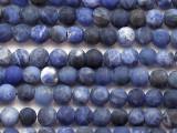 Matte Soldalite Round Gemstone Beads 4mm (GS5391)