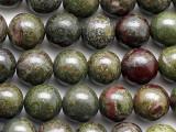 Dragon Blood Jasper Round Gemstone Beads 10mm (GS5392)