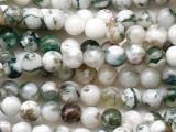 Moss Agate Round Gemstone Beads 4mm (GS5395)