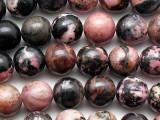 Rhodonite Round Gemstone Beads 10mm (GS5405)