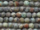 """Matte African """"Turquoise"""" Jasper Round Gemstone Beads 6mm (GS5408)"""