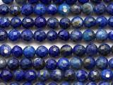 Lapis Lazuli Faceted Round Gemstone Beads 4mm (GS5413)