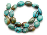 Turquoise Oval Nugget Beads 20-25mm (TUR1466)