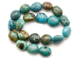 Turquoise Oval Nugget Beads 20-22mm (TUR1468)
