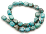 Turquoise Block Nugget Beads 15-16mm (TUR1469)