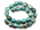 Turquoise Block Nugget Beads 15-16mm (TUR1470)