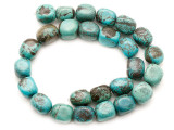 Turquoise Block Nugget Beads 16-17mm (TUR1474)