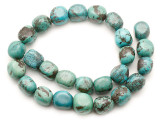 Turquoise Block Nugget Beads 15-16mm (TUR1475)