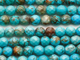 Turquoise Faceted Round Beads 5-6mm (TUR1481)
