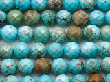 Turquoise Faceted Round Beads 8mm (TUR1483)
