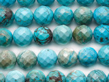 Turquoise Faceted Round Beads 12mm (TUR1485)