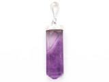 Purple Fluorite & Sterling Silver Pendant 33mm (GSP3929)