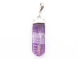 Purple Fluorite & Sterling Silver Pendant 30mm (GSP3930)