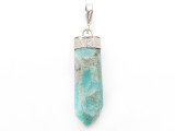 Amazonite & Sterling Silver Pendant 38mm (GSP3950)