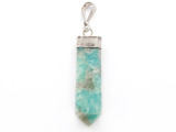 Amazonite & Sterling Silver Pendant 41mm (GSP3951)