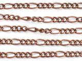 """Copper Figaro Chain 4.5mm - 36"""" (CHAIN122)"""