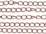 """Copper Curb Chain 5mm - 36"""" (CHAIN126)"""
