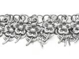 """Aluminum Flower Charm Chain 20mm - 36"""" (CHAIN128)"""