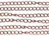 """Copper Curb Chain 3.5mm - 36"""" (CHAIN129)"""