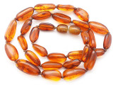 Genuine Amber Oval Nugget Beads 10-10mm (AB113)