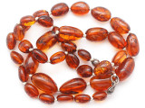Genuine Amber Oval Nugget Beads 7-15mm (AB116)