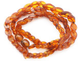 Genuine Amber Overlapping Leaf Beads 8-14mm (AB119)