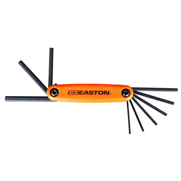 Easton Archery Pro Hex Fold Up Allen Wrench Tool Set - Standard #322779TF