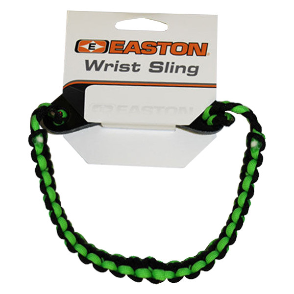 Easton Wrist Sling Diamond Paracord Wide Braid Green