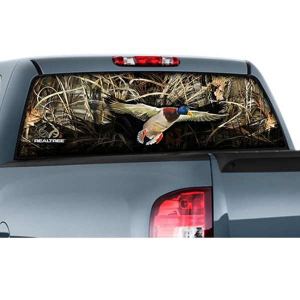 """CamoWraps 20"""" x 66"""" - Window Film Graphics Duck with Realtree Max 5"""