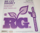"CamoWraps Realtree Girl Die Cut Magnets  Large Magnet 7.2"" x 7.3"" / Small Magnet 7.6"" x 2"" Purple"