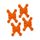 Bowjax Revelation Split Limb Dampener 4 pk Orange