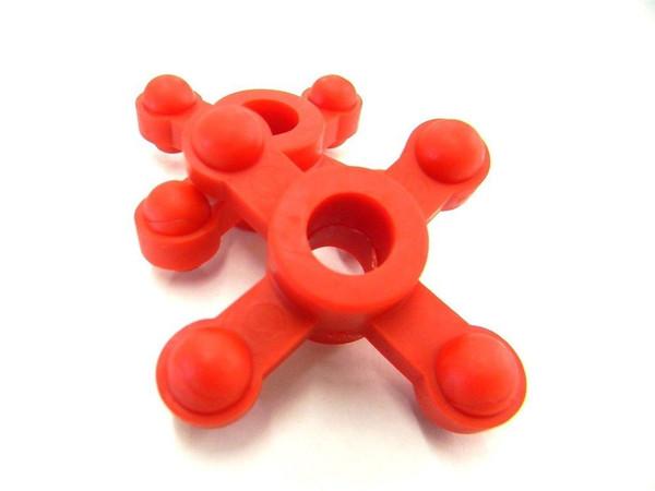 """Bowjax Maxjax Dampener 5/8"""" (2 Pack) Red"""